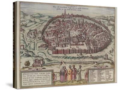 The Jerusalem Map (From: Jansson, Jan. Illustriorum Hispaniae Urbium Tabulae, Amsterdam, 165), 1657-Frans Hogenberg-Stretched Canvas Print