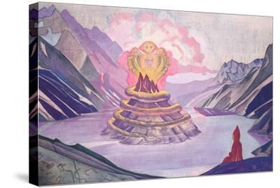 Nagarjuna Conqueror of the Serpent, 1925-Nicholas Roerich-Stretched Canvas Print