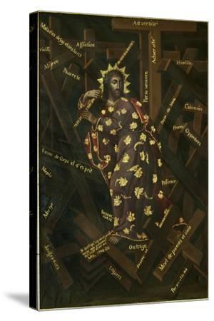 El Cristo De Las Cruces, Early 18th C-Francisco Moyen-Stretched Canvas Print