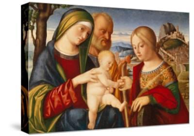 The Mystical Marriage of Saint Catherine-Francesco di Bernardo de Vecchi Santacroce-Stretched Canvas Print