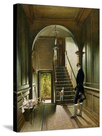 The Staircase of the London Residence of the Painter, 1828-Pieter Christoffel Wonder-Stretched Canvas Print