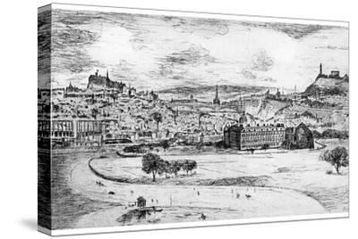 General View of Edinburgh, from Arthur's Seat, 1900-Frank Laing-Stretched Canvas Print