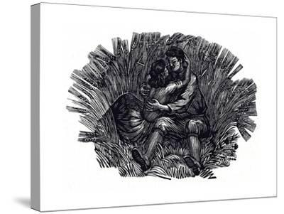Illustration for Poems and Songs by Robert Burns, 1950--Stretched Canvas Print