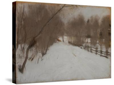 Winter Road to Domotkanovo, 1904-Valentin Alexandrovich Serov-Stretched Canvas Print