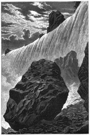 View of the Falls of Niagara, 1877--Stretched Canvas Print