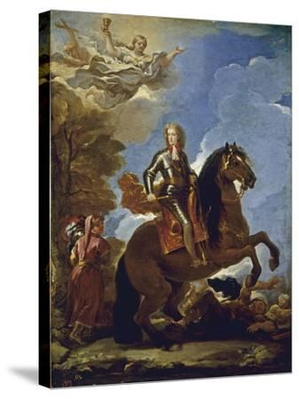 Equestrian Portrait of Charles II of Spain, before 1694-Luca Giordano-Stretched Canvas Print