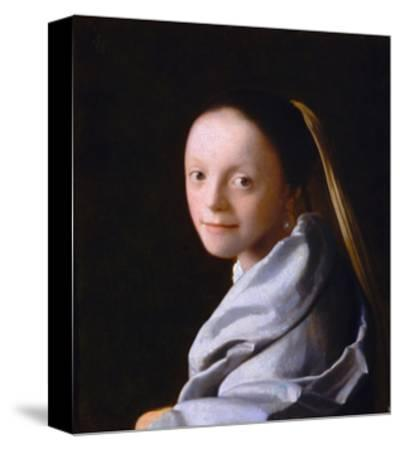 Study of a Young Woman, Ca. 1665-1667-Johannes Vermeer-Stretched Canvas Print