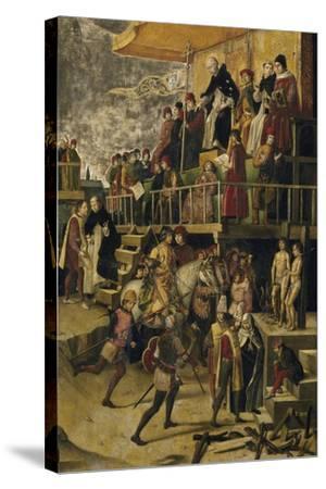 Saint Dominic Presides over an Auto Da Fe, C. 1495-Pedro Berruguete-Stretched Canvas Print