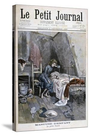 Revolte of the Blind Men in a Hospice, France, 1904--Stretched Canvas Print