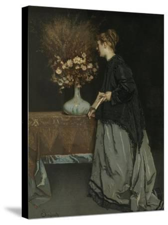 Autumn Flowers, 1867-Alfred Stevens-Stretched Canvas Print