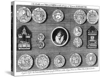 The Gold and Silver Coins in the Reign of Queen Elizabeth, 1751- Eldridge-Stretched Canvas Print
