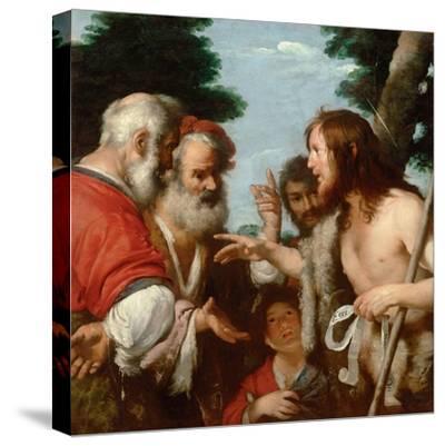 The Sermon of Saint John the Baptist, C. 1644-Bernardo Strozzi-Stretched Canvas Print