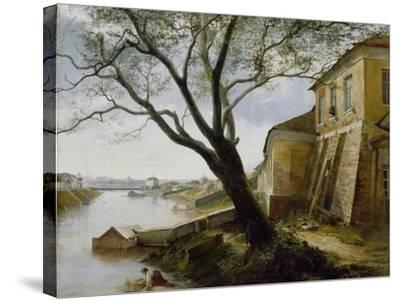 Over the Yauza River in Moscow, 1860-Alexander Pavlovich Popov-Stretched Canvas Print