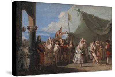 The Triumph of Pulcinella, 1760-1770-Giandomenico Tiepolo-Stretched Canvas Print