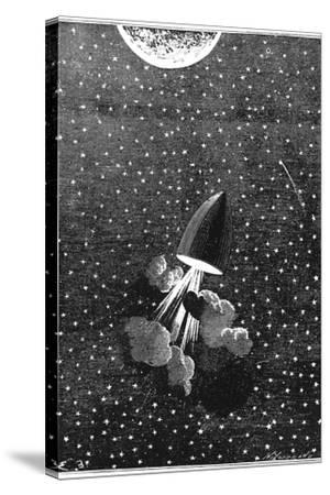 Jules Verne (1828-190), Autour De La Lune, 1865--Stretched Canvas Print