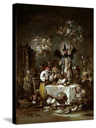 Allegorical Caprice. the Avarice, 1852-Eugenio Lucas Velázquez-Stretched Canvas Print