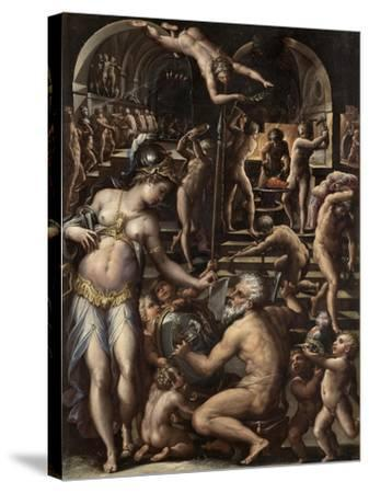 The Furnace of Volcano, 1563-1565-Giorgio Vasari-Stretched Canvas Print