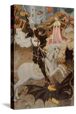 Saint George Killing the Dragon, 1434-1435-Bernat Martorell the Elder-Stretched Canvas Print