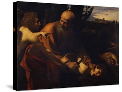Abraham Sacrificing Isaac, 1603-1604-Caravaggio-Stretched Canvas Print