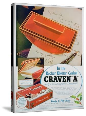 Advert for Craven 'A' Cigarettes, 1936--Stretched Canvas Print