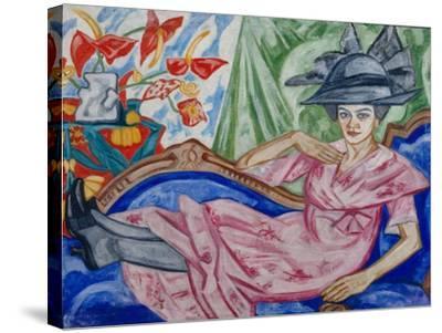 Portrait of the Artist's Sister, 1912-Olga Vladimirovna Rozanova-Stretched Canvas Print