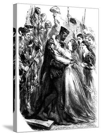 Scene from Shakespeare's Othello, 19th Century--Stretched Canvas Print
