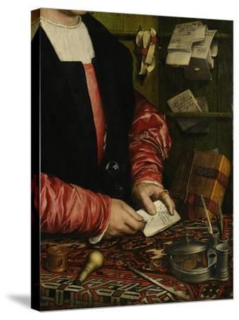 The Merchant Georg Gisze (Detail), 1532-Hans Holbein the Younger-Stretched Canvas Print