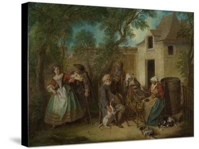 The Four Ages of Man: Old Age, Ca 1735-Nicolas Lancret-Stretched Canvas Print