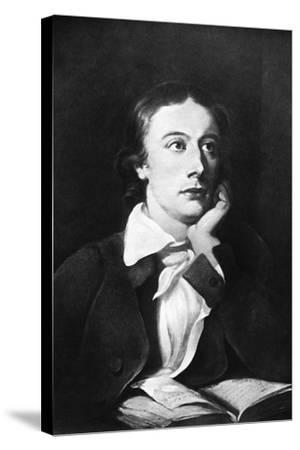 John Keats, English Poet, 19th Century-William Hilton-Stretched Canvas Print