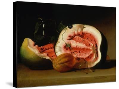 Melons and Morning Glories, 1813-Raphaelle Peale-Stretched Canvas Print
