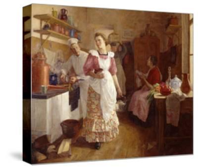 In the Kitchen, 1913-Olga Vasilyevna Ivanova-Bronevskaya-Stretched Canvas Print