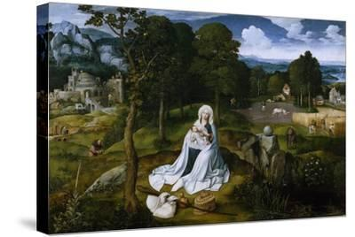 Rest on the Flight into Egypt, 1518-1520-Joachim Patinir-Stretched Canvas Print
