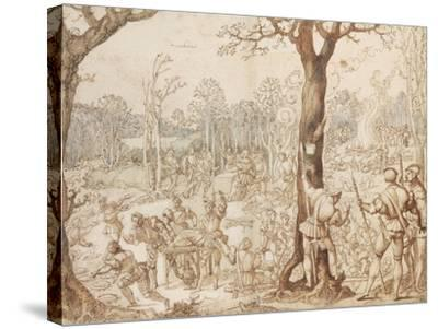 Sharing Out the Game, 1525-1535-Bernaert Van Orley-Stretched Canvas Print