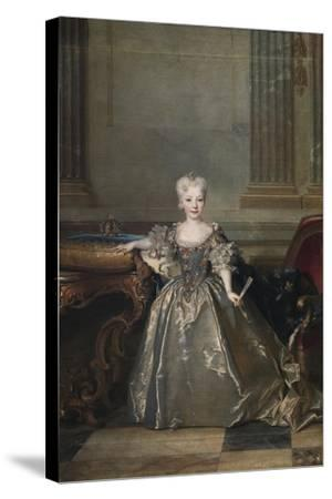 Infanta Mariana Victoria of Spain, 1724-Nicolas de Largillière-Stretched Canvas Print