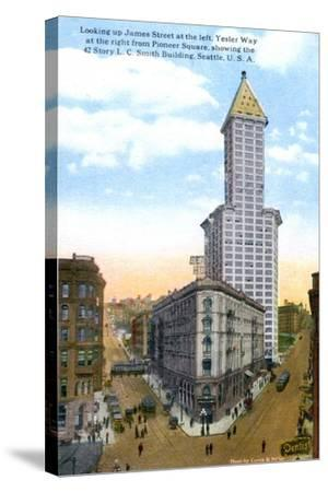 The L.C. Smith Tower, Seattle, U.S.A., C1910S-Curtis & Miller-Stretched Canvas Print