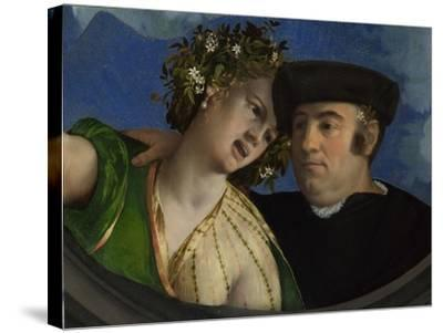 A Man Embracing a Woman, Ca 1524-Dosso Dossi-Stretched Canvas Print