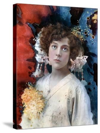 Florence Collingbourne in San Toy, C1902- Ellis & Walery-Stretched Canvas Print