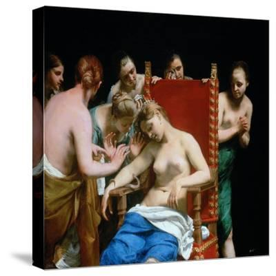 The Death of Cleopatra, Ca 1662-Guido Canlassi-Stretched Canvas Print