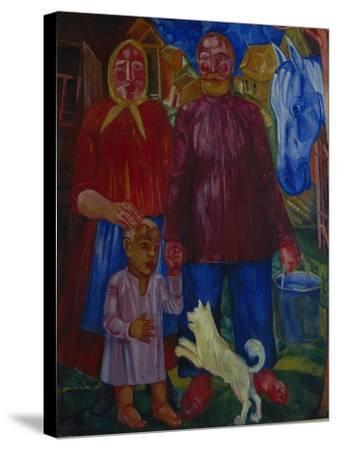 The Family of the Serednyaks, 1929-Viktor Nikandrovich Palmov-Stretched Canvas Print
