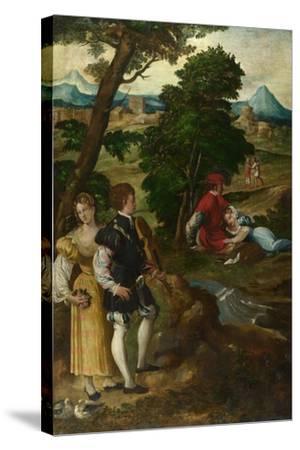 The Garden of Love, C. 1535-1550-Bernardino  da Asola-Stretched Canvas Print