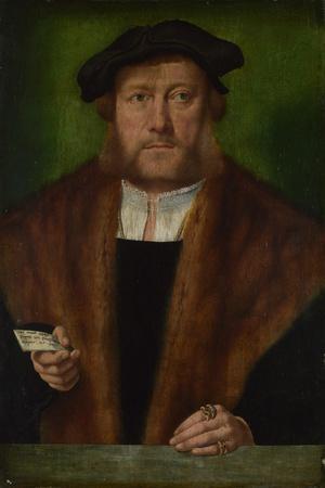 Portrait of a Man, Ca 1533-1534-Bartholomaeus Bruyn-Stretched Canvas Print
