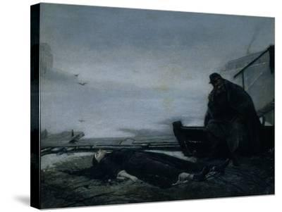 The Drowned, Mid of 1860S-Vasili Grigoryevich Perov-Stretched Canvas Print