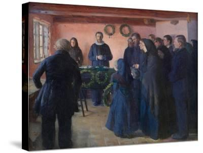 A Funeral, 1891-Anna Ancher-Stretched Canvas Print