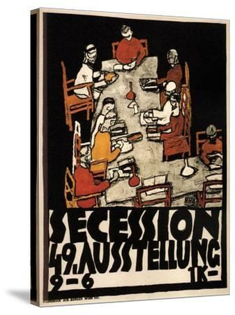 Poster for the Vienna Secession 49th Exhibition, 1918-Egon Schiele-Stretched Canvas Print