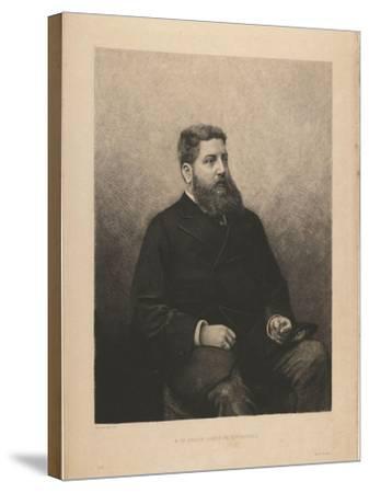 Portrait of James-Edouard De Rothschild (1844-188), 1870S-Daniel Charles Marie Mordant-Stretched Canvas Print