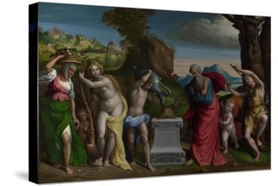 A Pagan Sacrifice, 1526-Benvenuto Tisi Da Garofalo-Stretched Canvas Print