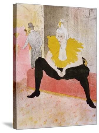 Seated Clowness, 1896-Henri de Toulouse-Lautrec-Stretched Canvas Print