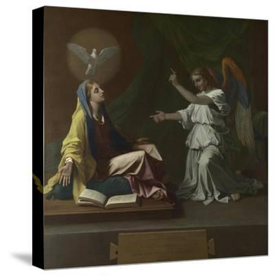 The Annunciation, 1657-Nicolas Poussin-Stretched Canvas Print