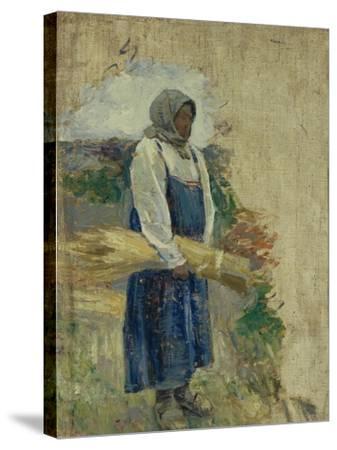 A Reaper, 1896-Viktor Elpidiforovich Borisov-musatov-Stretched Canvas Print