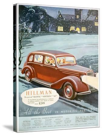 Advert for Hillman Motor Cars, 1936--Stretched Canvas Print